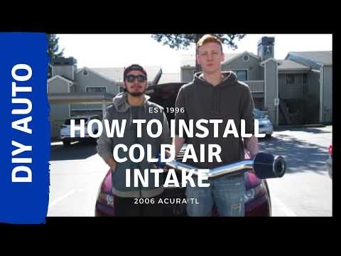 HOW TO INSTALL COLD AIR INTAKE IN ACURA TL
