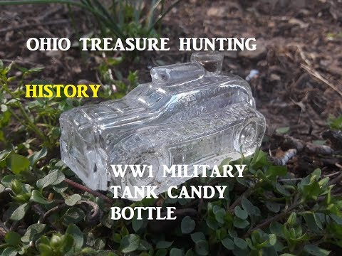 Ohio Treasure Hunting WW1 Glass Tank Archaeology Antique Candy Toys