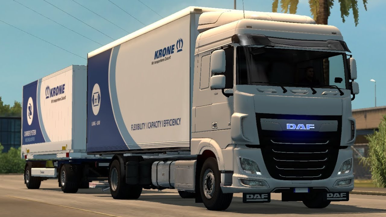 euro truck simulator 2 daf xf 106 rigid by xbs v. Black Bedroom Furniture Sets. Home Design Ideas