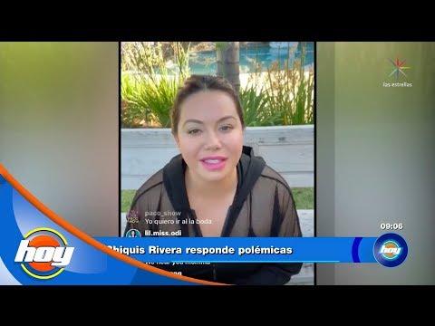 Chiquis Rivera y Lorenzo Méndez dan su versión del conflicto en su boda   Hoy
