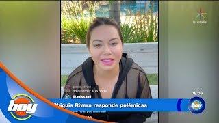 Chiquis Rivera y Lorenzo Méndez dan su versión del conflicto en su boda | Hoy
