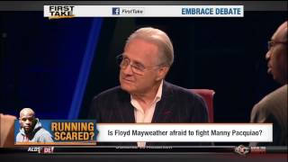 First Take- guest Larry Merchant discusses boxing on October 9, 2012