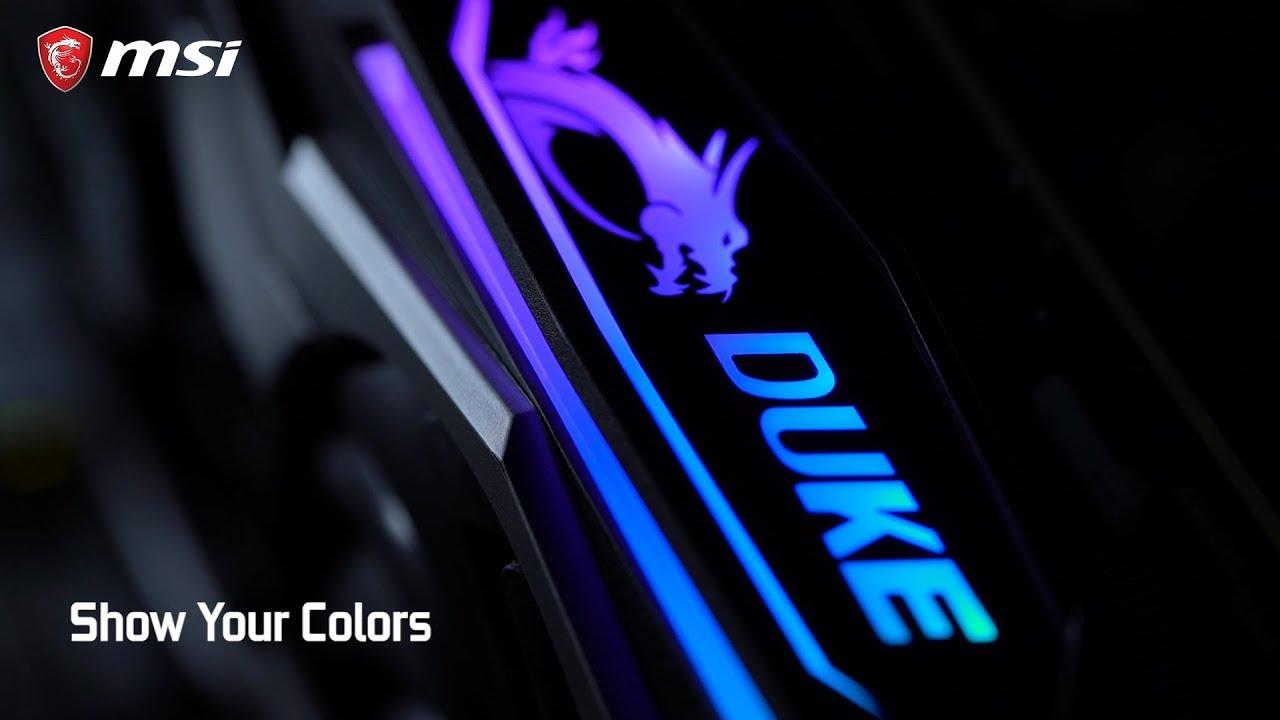 Découvrez les cartes graphiques MSI GeForce RTX® 2080 DUKE