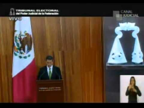 Enrique Peña Nieto recibe constancia de presidente electo