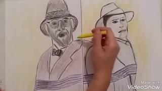 How to draw Indiana Jones scenes