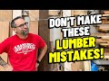 Don't Make These Lumber Mistakes!   Tips for New Woodworkers