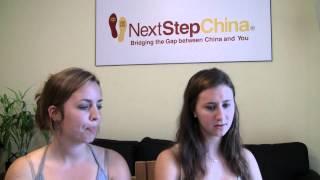 Samantha and Maggie testimonial - Next Step China