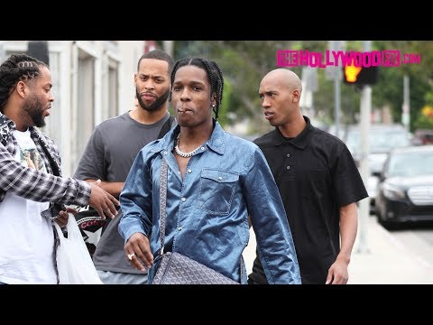 Thumbnail: ASAP Rocky Smokes With Fans While Shopping On Melrose Avenue 7.24.17 - TheHollywoodFix.com