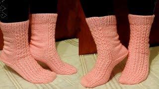 5 Şişle Çorap Yapımı   Şık Çorap Modeli   El İşi Örgü Modelleri