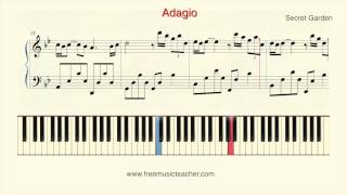 "How To Play Piano: Secret Garden ""Adagio"" Piano Tutorial by Ramin Yousefi"