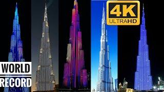 Celebration of Burj Khalifa UAE Dubai Emirates New Year 2019 Eve Best in World Happy New Year 2019