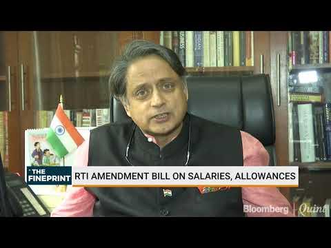 RTI Amendment Bill An Assault On Federalism, Says Shashi Tharoor
