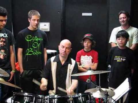 Drummer Paul DeLong at Guitar Workshop Plus