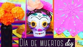 Frida Catrina, flores de Cempazúchitl y papel picado: TUTORIAL Día de Muertos Especial ✄ Craftingeek