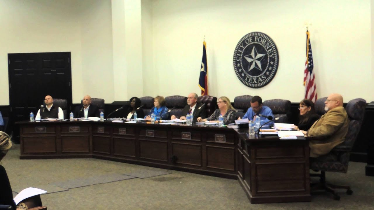 Forney Police Chief Barnes Addresses Council (Part 1 ...
