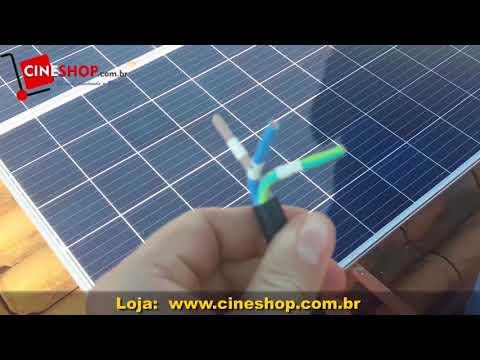 Instalação do Painel Solar Fotovoltaico com Micro Inversor - Manual Passo a Passo Cineshop.com.br