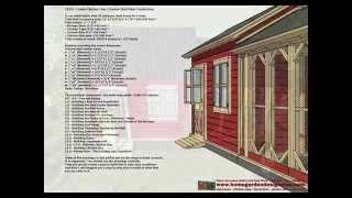 Cb202 - Combo Chicken Coop Plans Construction + Storage Shed Plans Construction