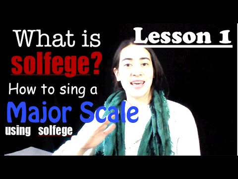 Ear training lesson 1: What is solfege? How to sing the major scale using solfege