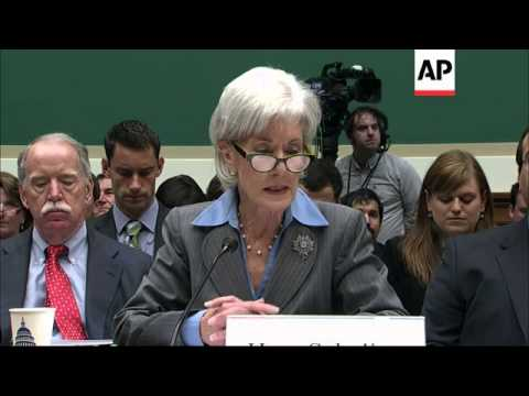 Secretary Of Health And Human Services Kathleen Sebelius Admits Responsibility For The Flawed Launch