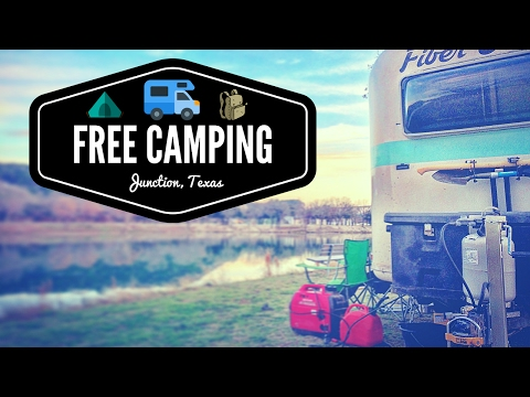 Free Camping in Junction, TX 💯🌞🚐 Full Time RV Living | Van Boondocking & RV Dry Camping in Texas