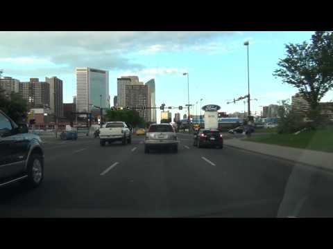 Time-lapse drive through the city of Calgary, Alberta - June 2014