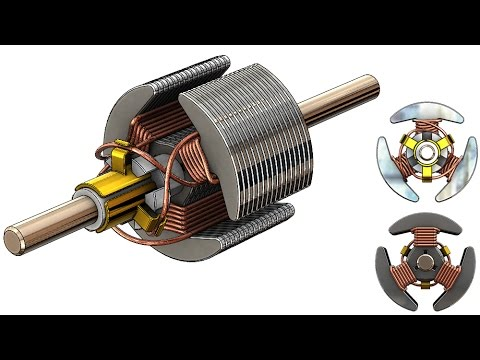 SolidWorks Tutorial #262 : Rotor (coil wiring) on three-phase electric power, electrical engineering, national electrical code, coil voltage, electric power distribution, earthing system, knob-and-tube wiring, electric motor, electrical conduit, ground and neutral, coil design, coil engine, junction box, coil schematics, circuit breaker, power cable, distribution board, alternating current, coil bracket, wiring diagram, extension cord, power cord,