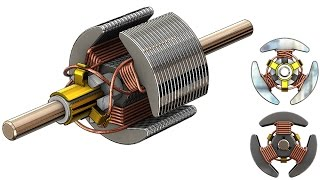 SolidWorks Tutorial #262 : Rotor (coil wiring)