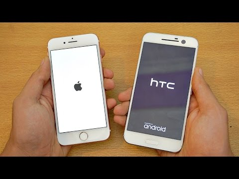 iPhone 7 vs HTC 10 - Speed Test! (4K)