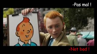 FRENCH LESSON - learn french with Tintin (french dub ) part 1