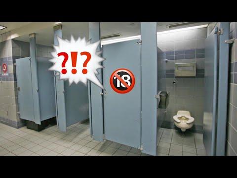 Что происходит в туалетах ??! | Парень дрочит