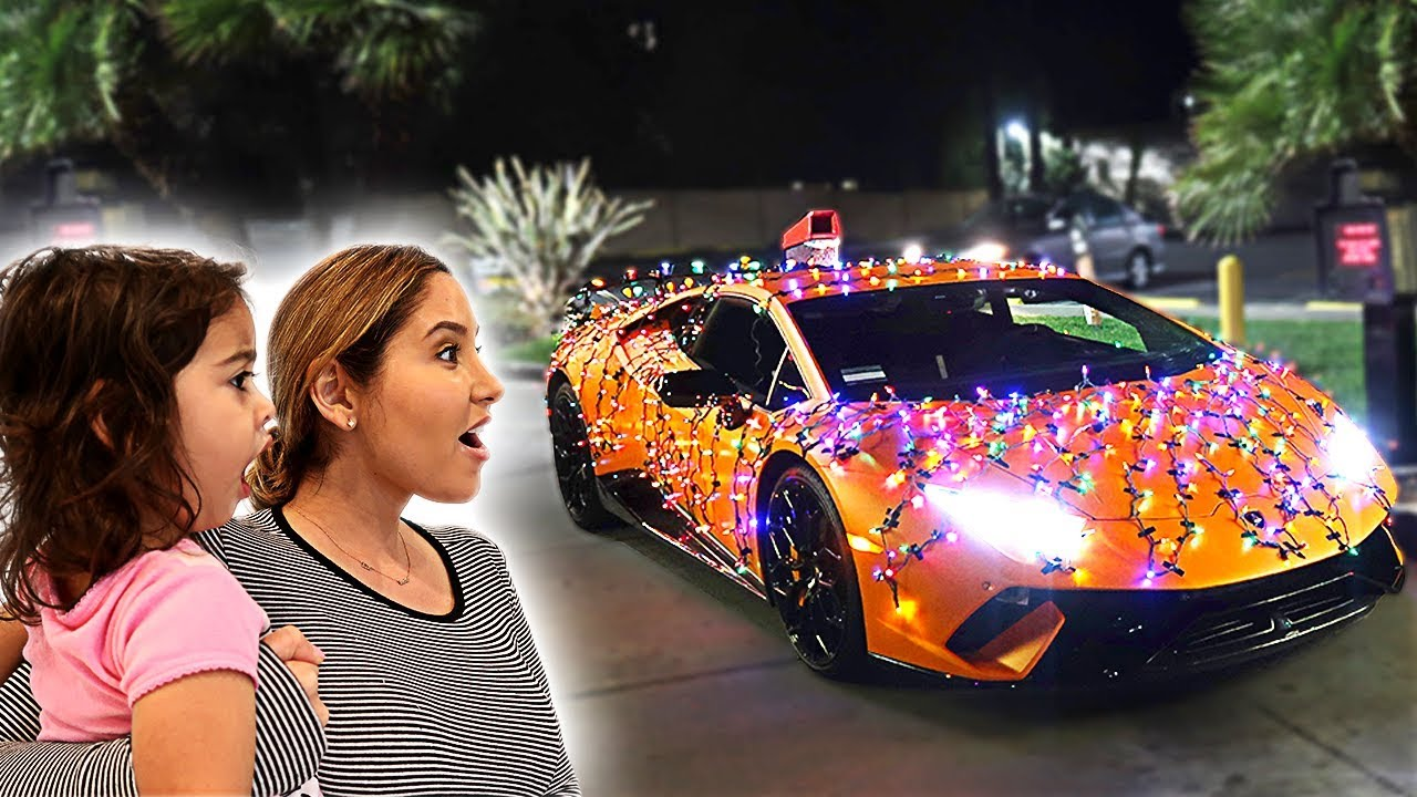 WRAPPING OUR LAMBORGHINI WITH CHRISTMAS LIGHTS!!! **NEVER BEEN DONE BEFORE**