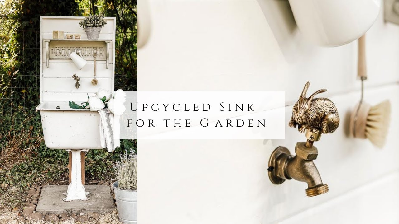 Upcycled Sink in the Garden