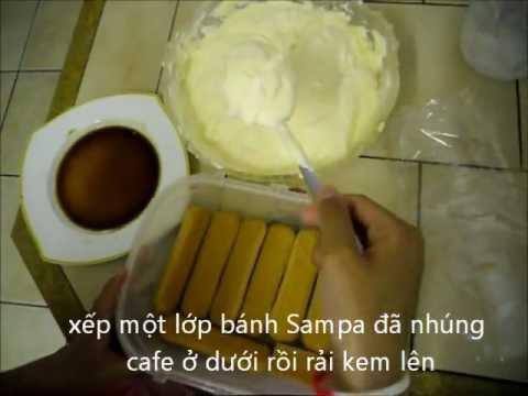 cách làm bánh TIRAMISU của Ý [không có amaretto]