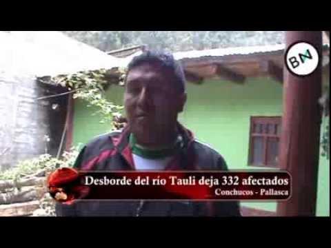 Rio Tauli se desborda y deja 332 damnificados en Conchucos