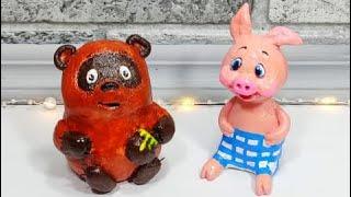 Как сделать Винни Пуха и Пятачка.Поделки своими руками.Winnie the Pooh & Piglet.DIY.