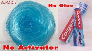 DIY Toothpaste Water Fluffy Slime