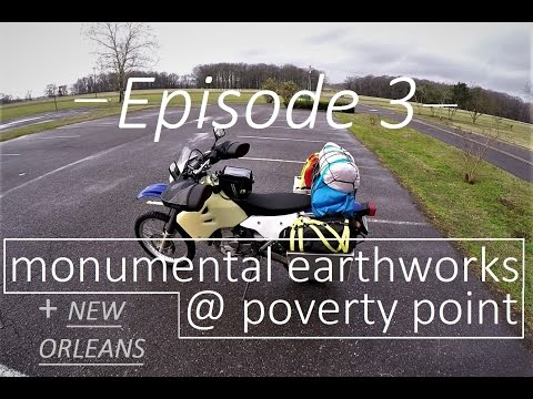 Motorcycle / Motorbike UNESCO World Heritage Tour - EPISODE 3 Monumental Earthworks at Poverty Point