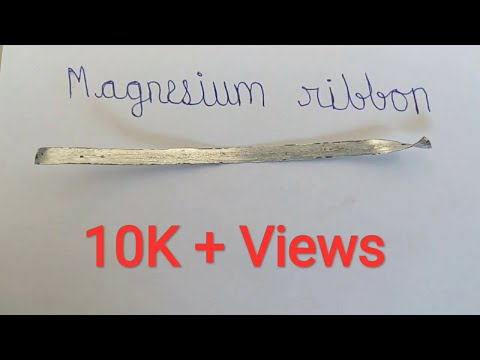 BURNING OF MAGNESIUM RIBBON 🎇🔥