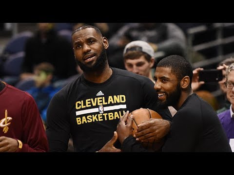 Lebron & Kyrire Reconnect Before Season Opener