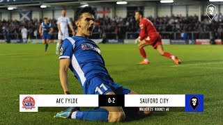 AFC Fylde 0-2 Salford City - National League 04/09/18