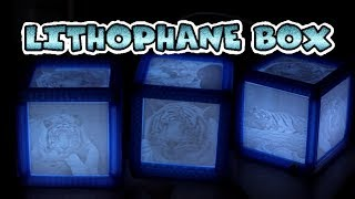 Lithophane LED tiger box with remote control