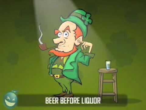 Angry Leprechaun  Beer Before Liquor PSA St Patty's Day Video by LiquidGeneration com   Myspace Video