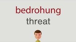 Wie heißt bedrohung auf englisch