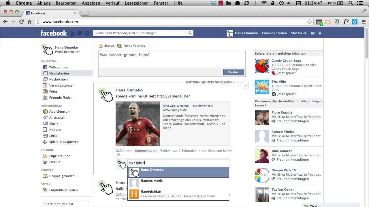 Facebook Freunde Markieren