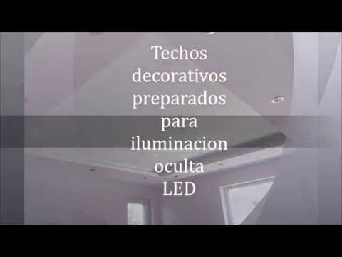Techos decorativos iluminacion escondida led   youtube