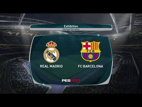 PES 2017 REAL MADRID VS. BARCELONA El Clasico Match Highlights