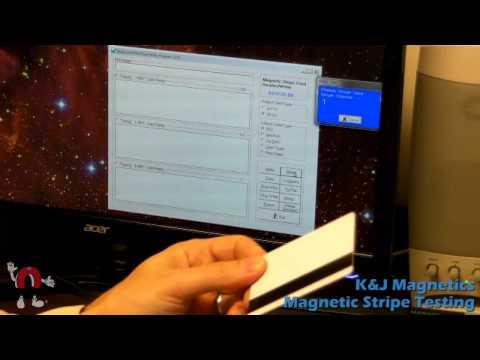 K&J Magnetics - Credit Card Magnetic Stripe Testing