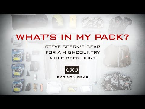 What's In My Pack? — Steve Speck's Gear for an Early Season Highcountry Mule Deer Hunt