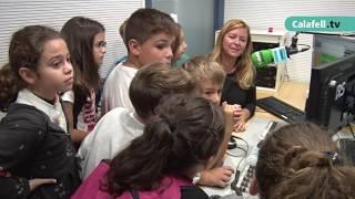 Escolars de Calafell visiten Calafell Ràdio