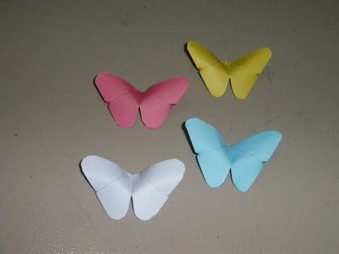 Basteln: Origami Schmetterling Falten Mit Papier ~ Bastelideen ~ Diy / Basteltipps / Geschenkideen